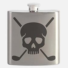 Golf clubs skull Flask