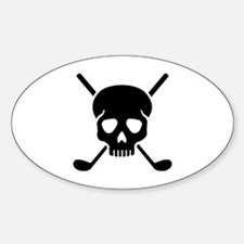 Golf clubs skull Decal