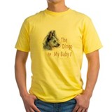 Australian cattle dog Mens Classic Yellow T-Shirts
