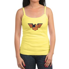 American Flag Patriotic Wings Jr. Spaghetti Tank