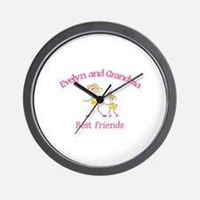 Evelyn & Grandma - Best Frien Wall Clock