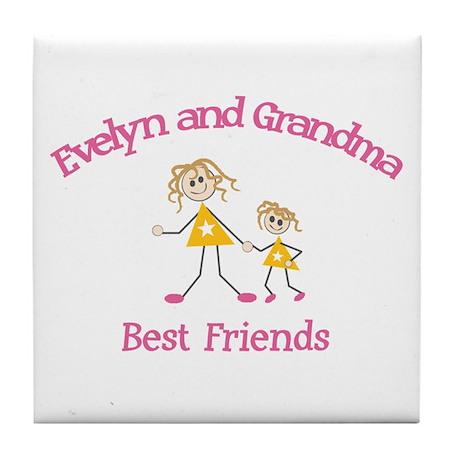 Evelyn & Grandma - Best Frien Tile Coaster