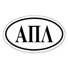 ALPHA PI LAMBDA Oval Decal