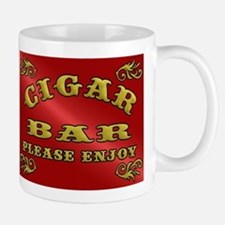 Vintage CIGAR BAR style sign Mugs