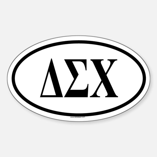 DELTA SIGMA CHI Oval Decal