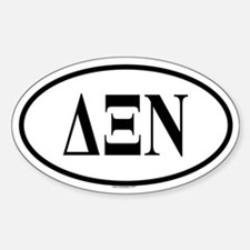 DELTA XI NU Oval Decal