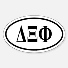 DELTA XI PHI Oval Decal