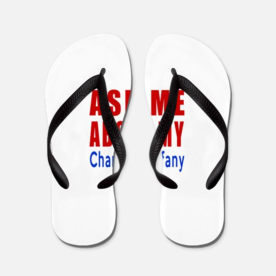 Ask Me About My Chantilly Tiffany Cat D Flip Flops