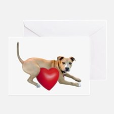 Dog Heart Greeting Cards