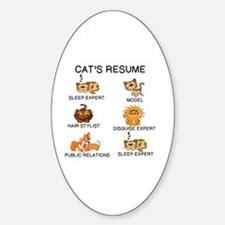 Funny Resume Sticker (Oval)