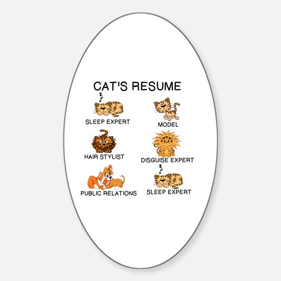 Cute Resume Sticker (Oval)