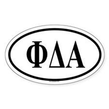 PHI DELTA ALPHA Oval Decal