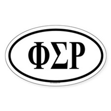 PHI SIGMA RHO Oval Decal