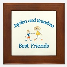 Jayden & Grandma - Best Frien Framed Tile