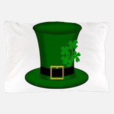 Four Leaf Clover Green Hat Pillow Case