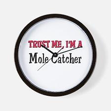 Trust Me I'm a Mole Catcher Wall Clock