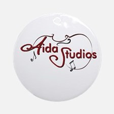 Aida Studios logo Round Ornament