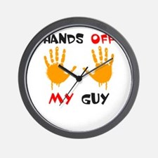 Hands Off My Guy and Girl Wall Clock