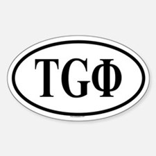 TYRO GYN PHI Oval Decal