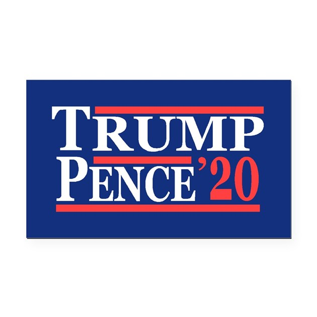 Trump Pence 2020 Rectangle Car Magnet By Cpshirts