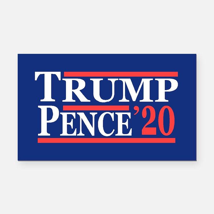 Trump Pence 2020 Rectangle Car Magnet