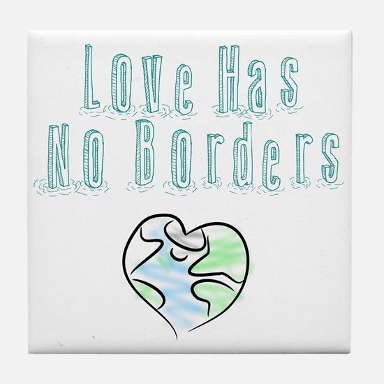 The Flow Of Love Tile Coaster