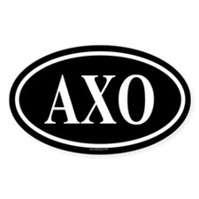 ALPHA CHI OMICRON Oval Decal