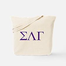Sigma Lambda Gamma Greek Letters Tote Bag