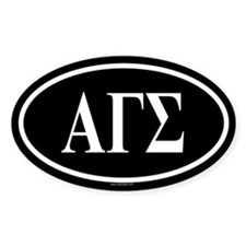 ALPHA GAMMA SIGMA Oval Decal