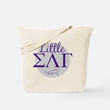 Sigma Lambda Gamma Little Letters Purple Tote Bag