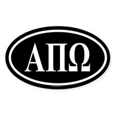 ALPHA PI OMEGA Oval Decal