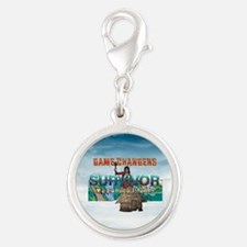 Survivor Game Changers Silver Round Charm