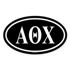 ALPHA THETA CHI Oval Decal