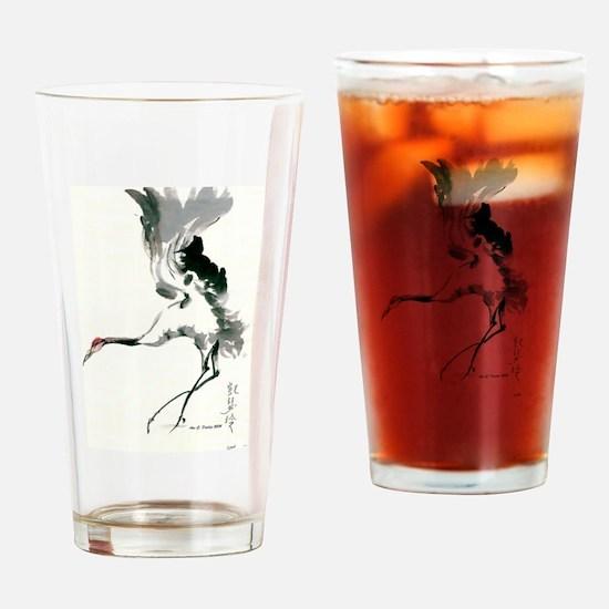 watercolor sandhill Drinking Glass