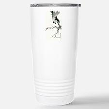 watercolor sandhill Travel Mug