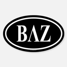 BETA LAMBDA ZETA Oval Decal