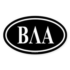BETA LAMBDA ALPHA Oval Decal