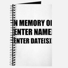 In Memory Of Personalize It! Journal