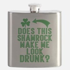 Funny St Patricks Day Drunk Quote Flask