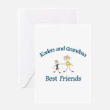 Kaden & Grandma - Best Friend Greeting Card