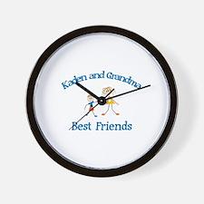 Kaden & Grandma - Best Friend Wall Clock
