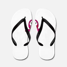 pink pinguin penguin Flip Flops