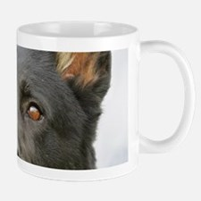 Black German Shepherd Dog Mug Mugs