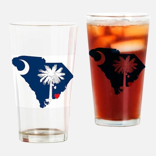 Cute South carolina flag Drinking Glass
