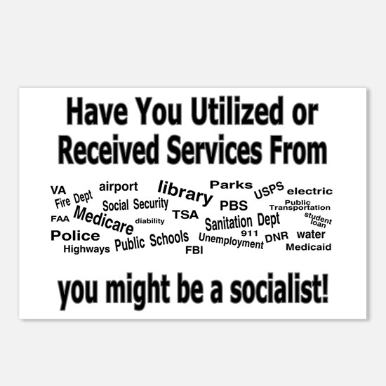 Might Be A Socialist Postcards (package Of 8)