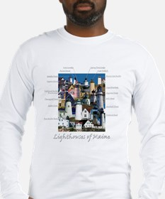 Lighthouses of Maine Long Sleeve T-Shirt