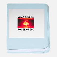 fraction of gods power baby blanket