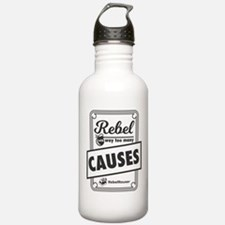 Rebel With Way Too Many Causes Water Bottle