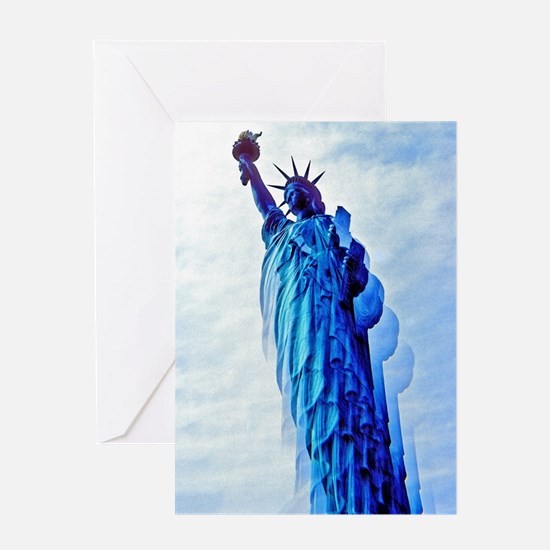 Cool Statue of liberty Greeting Card