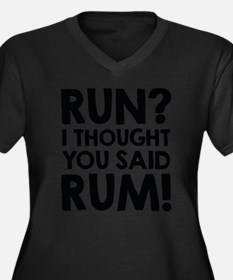 Run Rum Plus Size T-Shirt